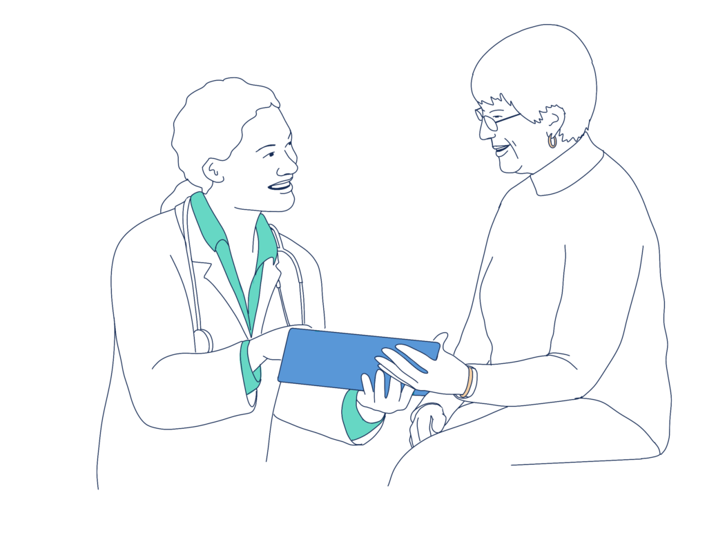 recoverwell doctor with patient