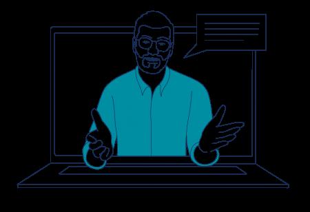 man in laptop