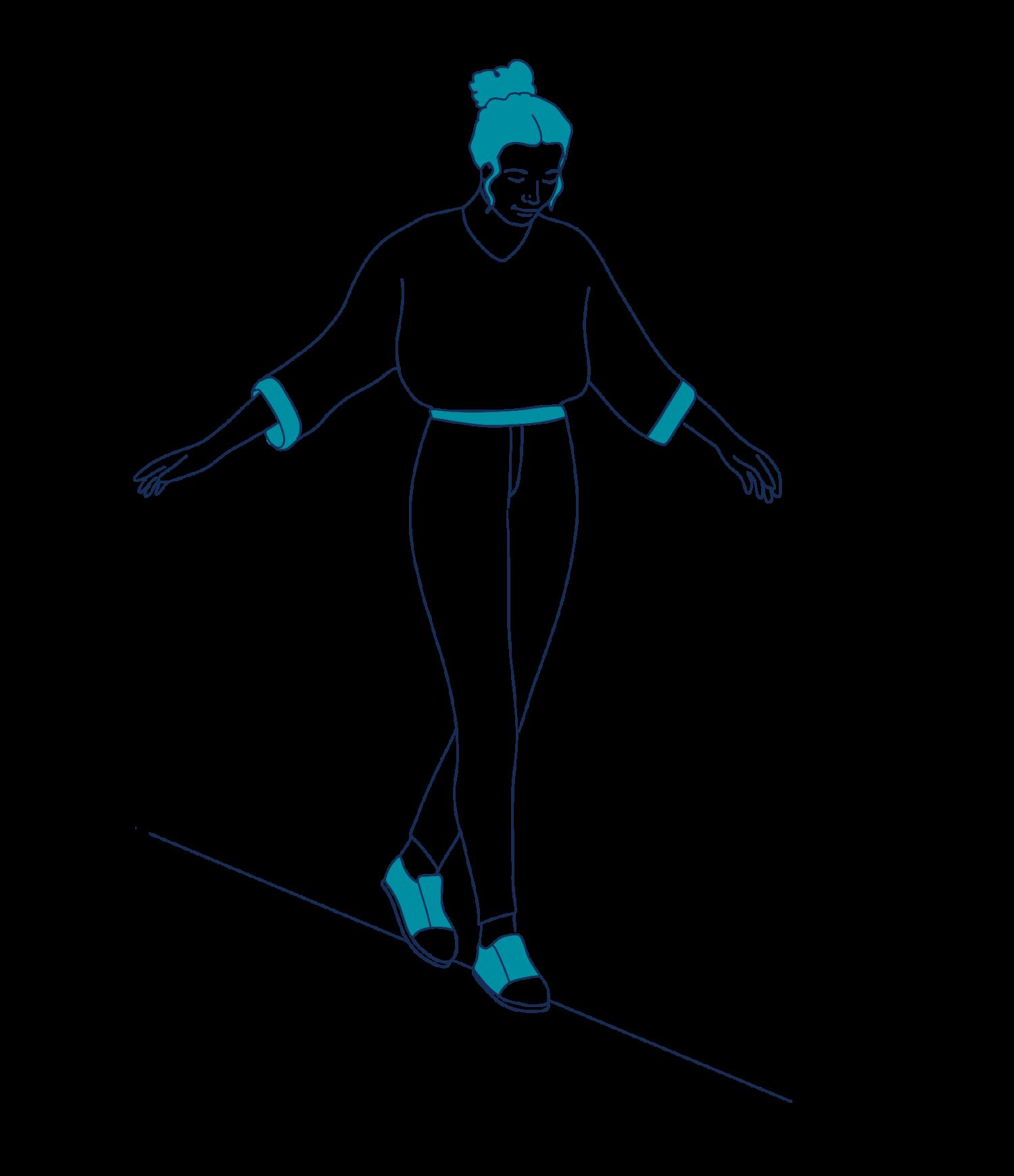 recoverwell-woman-walking-line